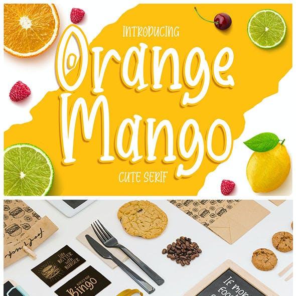Orange Mango - Cute Serif Font