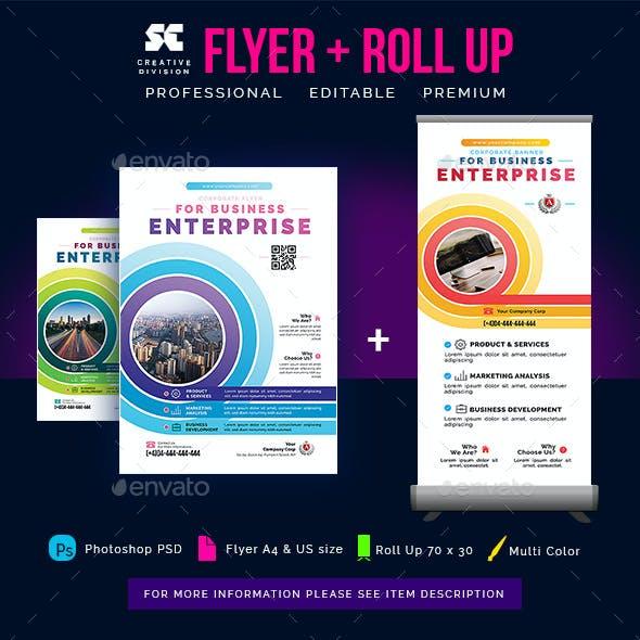 Multipurpose Business Flyer + Roll Up Banner