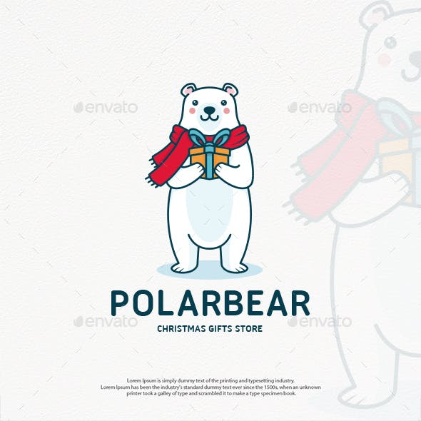 Polar Bear Christmas Logo