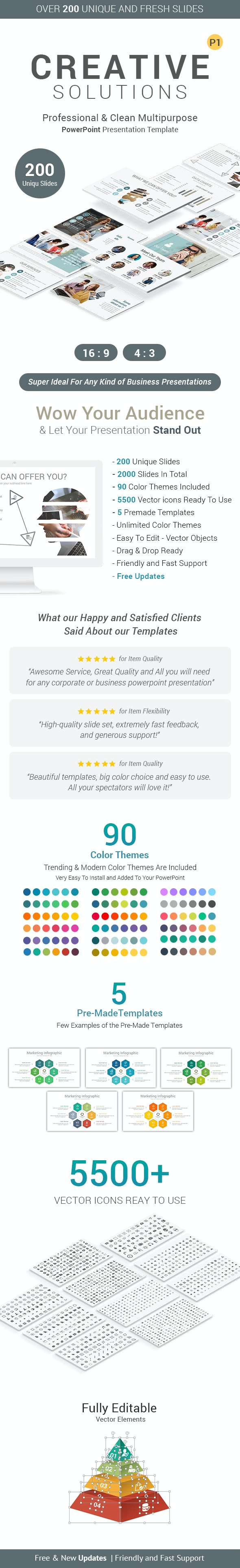 Creative Pack PowerPoint Presentation Template - Business PowerPoint Templates