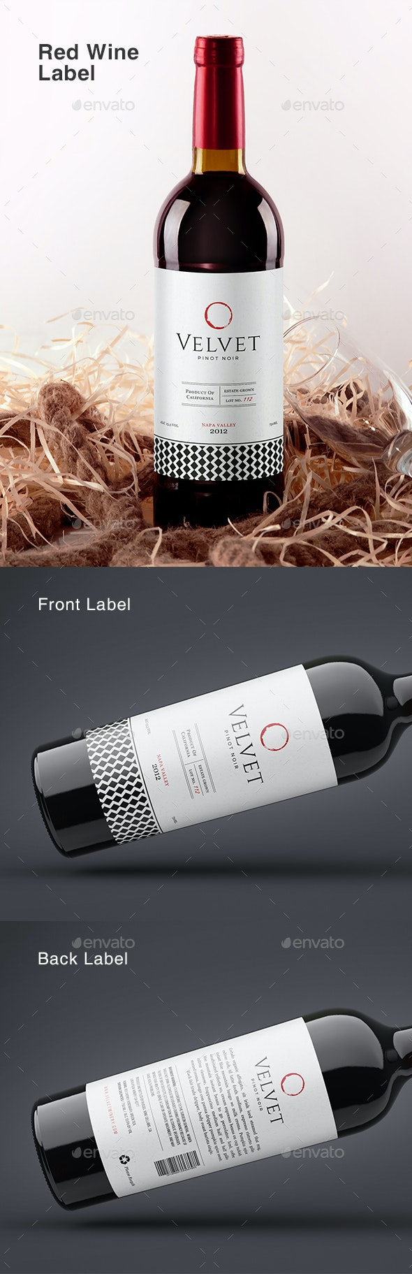 Wine Label Template - Packaging Print Templates