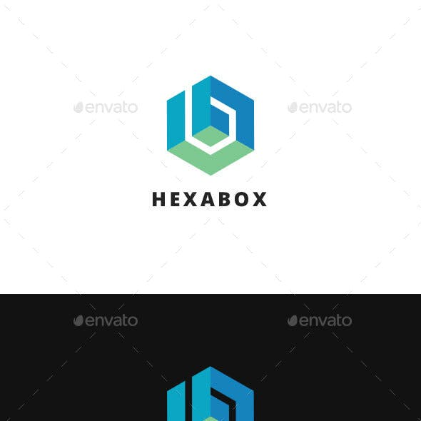 Hexabox B Letter Logo