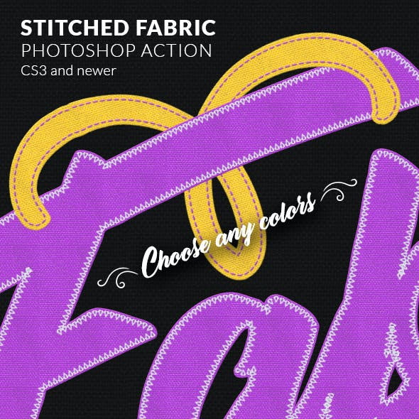Stitched Fabric Photoshop Action