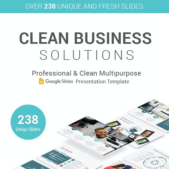 Clean Professional Business Google Slides Template