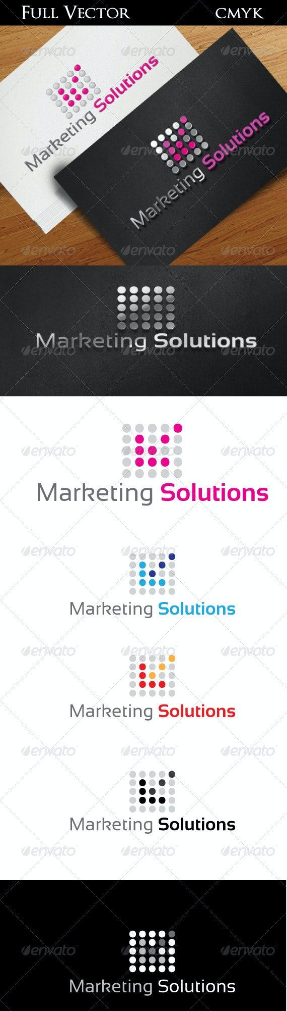 Marketing Solutions - Vector Abstract