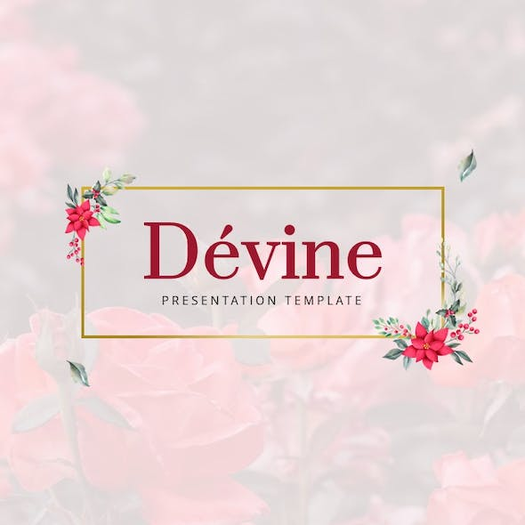 Devine Floral Ornament Presentation Template
