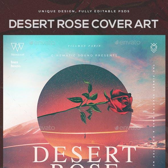 Desert Rose Album Cover Art Template