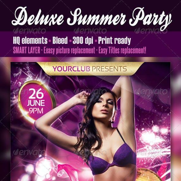 Deluxe Summer Party Flyer