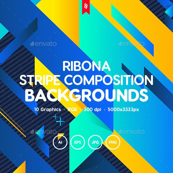 Ribona - Abstract Stripe Composition Backgrounds