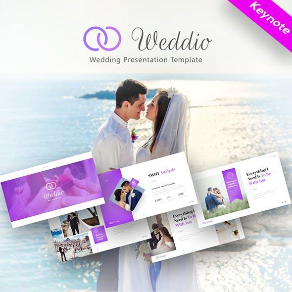 Weddio Multipurpose Wedding Event Keynote Presentation Template