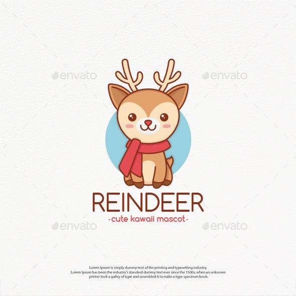 Rudolph Reindeer Logo Template