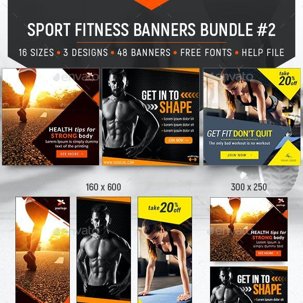 Sport Fitness Banners Bundle #2