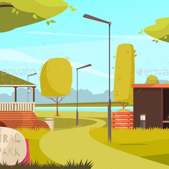 City Park Landscape Composition