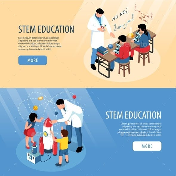 STEM Horizontal Banners Set
