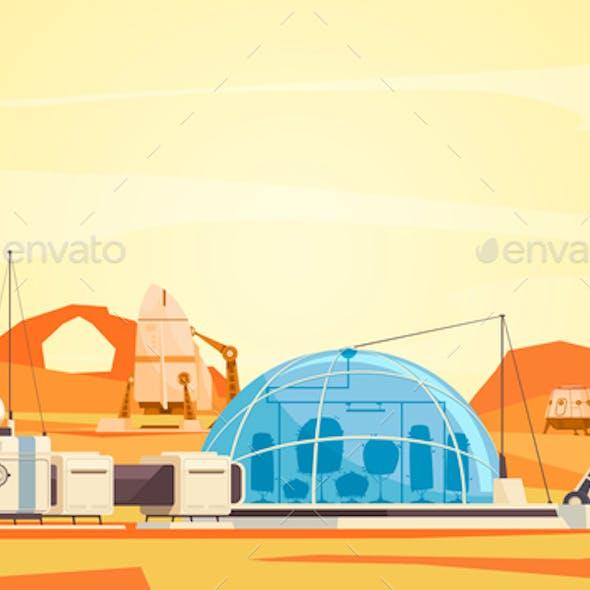 Mars Colonization Base Composition