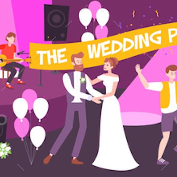 Wedding Party Vector Illustration
