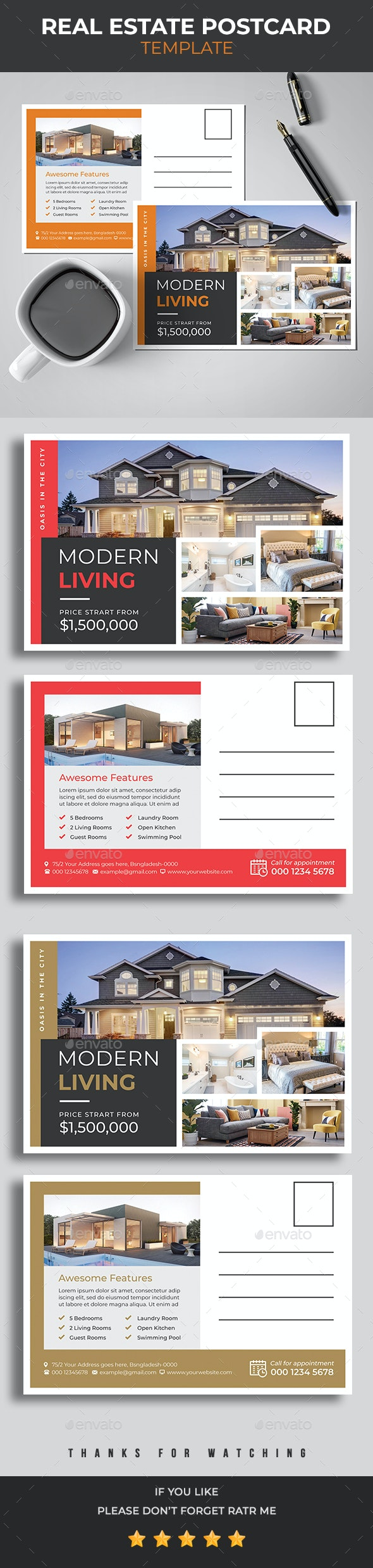 Template carte commerciale immobilier 2