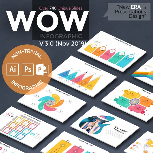 Wow Slides For Powerpoint. U-3 (246 New Slides!)
