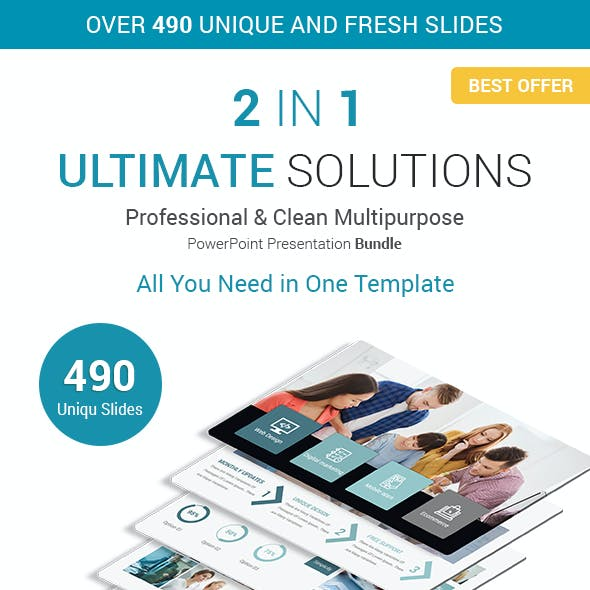 Ultimate Business Solutions - 2 In 1 PowerPoint Presentation Template Bundle