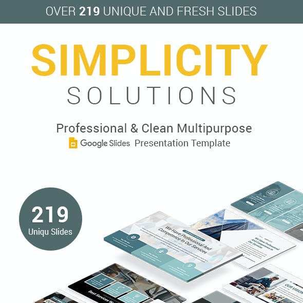 Simplicity Solutions Google Slides Presentation Template