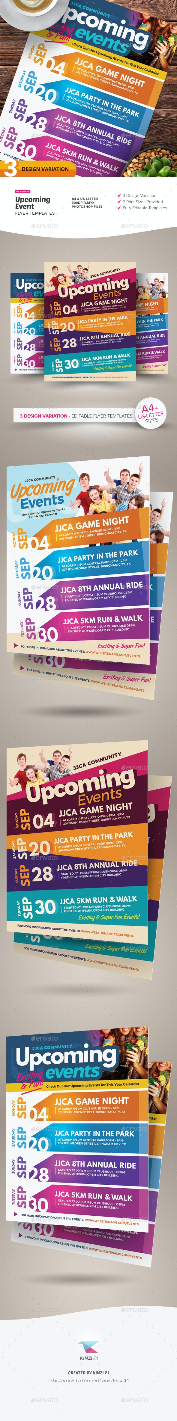 Upcoming Events Flyer Templates