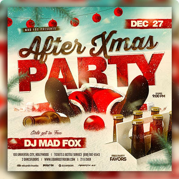 After Xmas Party Flyer
