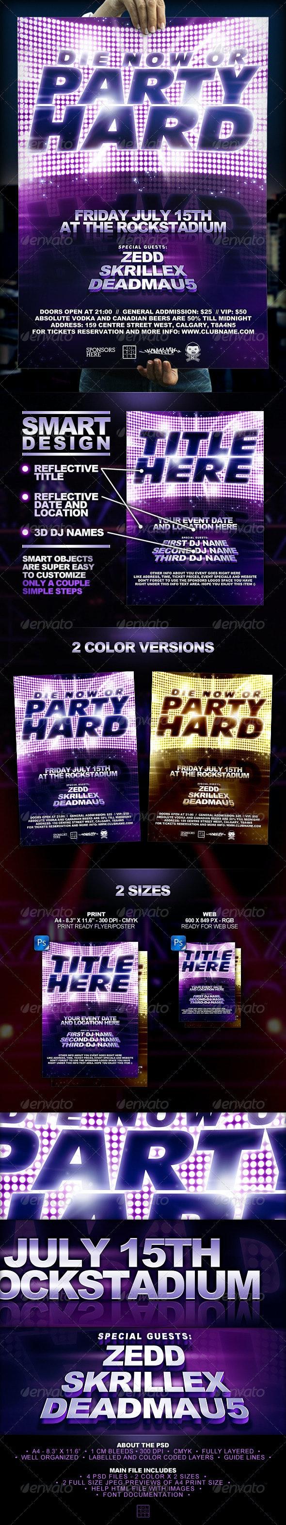 Superstar Flyer Template - Clubs & Parties Events