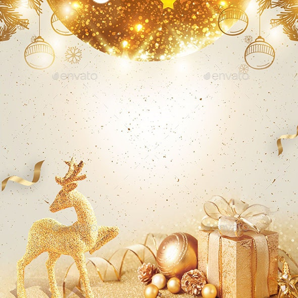 The Emperor Of The Gold Christmas Decoration - Backgrounds Decorative