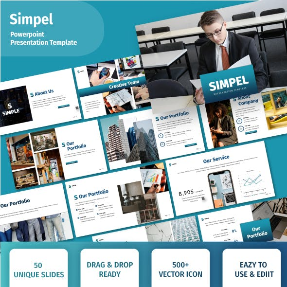 3 in 1 Blue Business Powerpoint Template Bundle