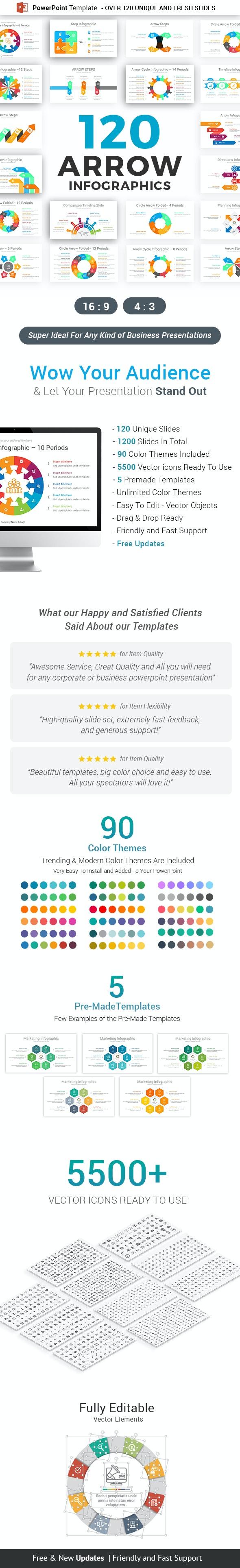Arrow Infographics PowerPoint Template Diagrams - Business PowerPoint Templates