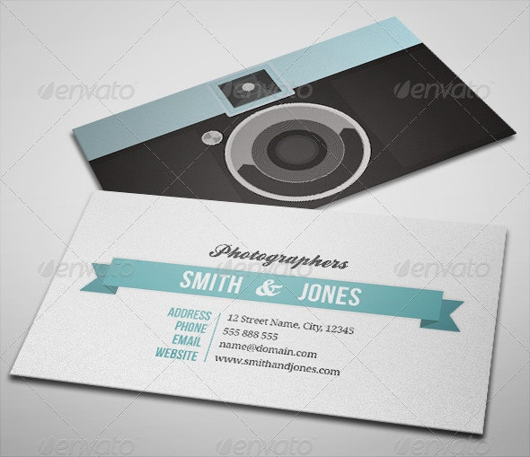 Sleek Illustrated Photography Business Card - Creative Business Cards