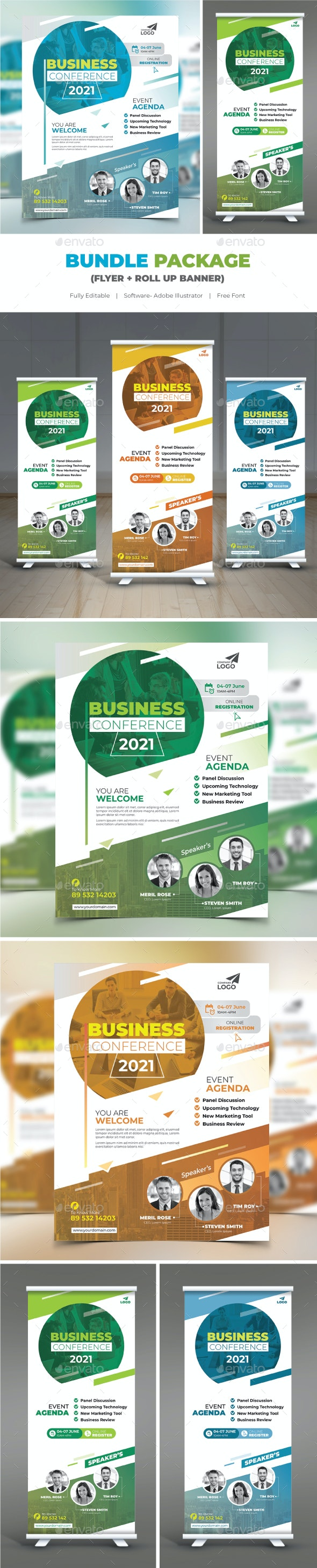 Conference Bundle (Flyer+Roll Up) - Corporate Flyers