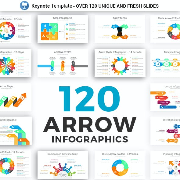 Arrow Infographics Keynote Presentation Template Diagrams