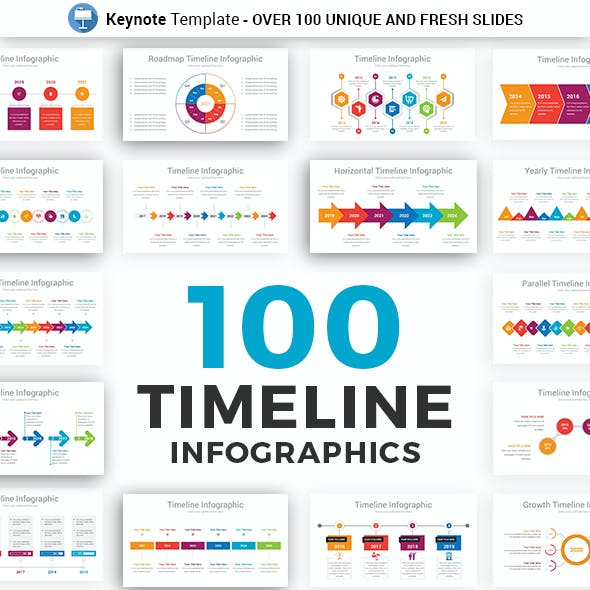 Timeline Infographics Keynote Presentation Template diagrams