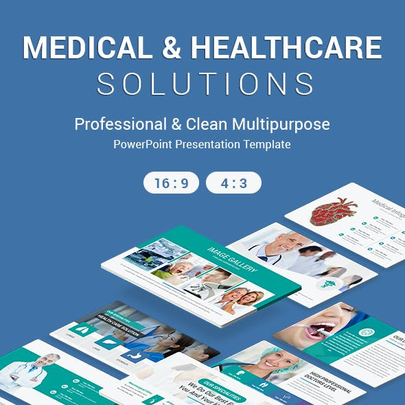 Medical and Healthcare Solutions PowerPoint Template