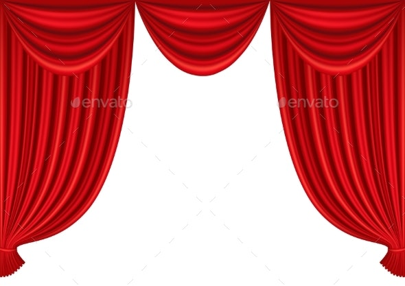 Red Curtains of Theater Stage - Miscellaneous Vectors