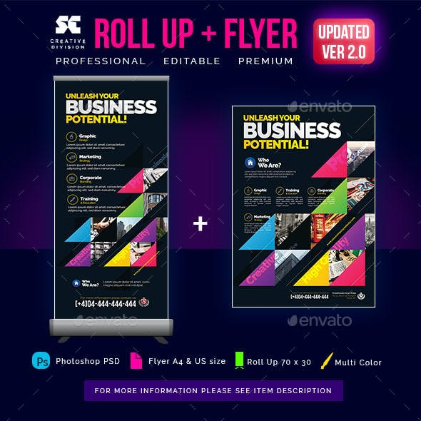 Business Roll Up Banner + Flyer