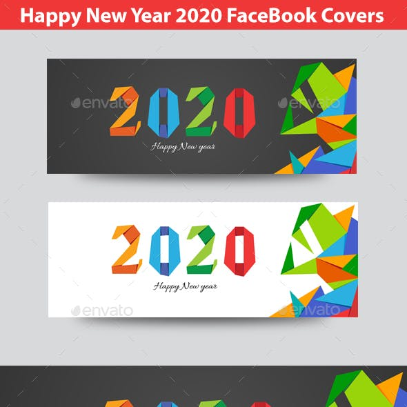 Happy  New Year 2020 FB Timeline Covers