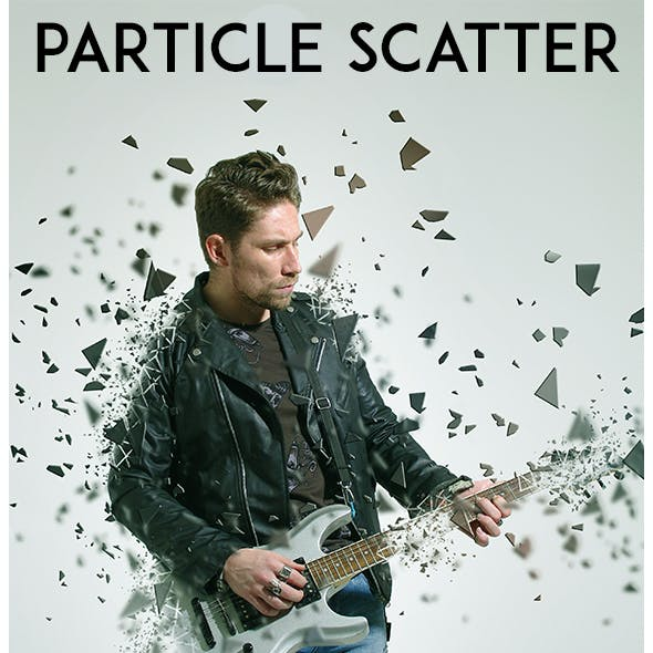 Particle Scatter Photoshop Action