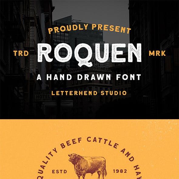 Roquen - A Hand Drawn Typeface