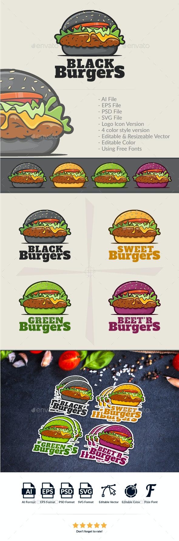 Burgers Logo Template - Food Logo Templates