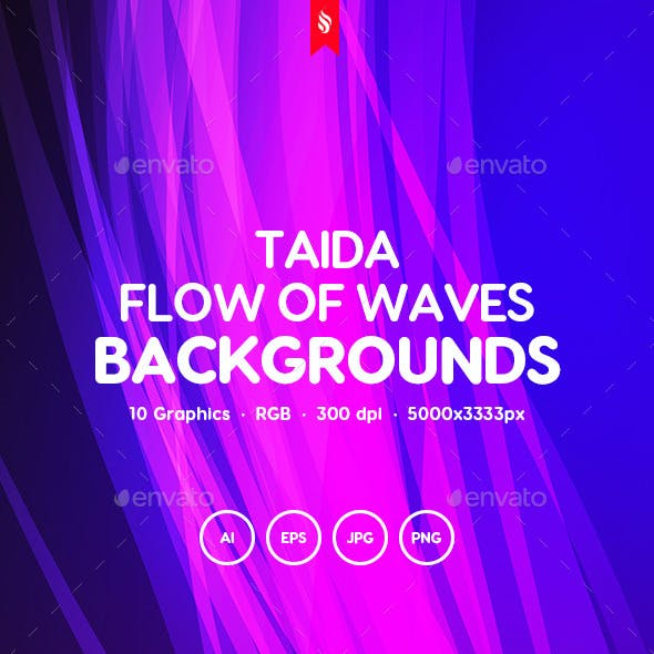 Taida - Abstract Flow of Waves Backgrounds