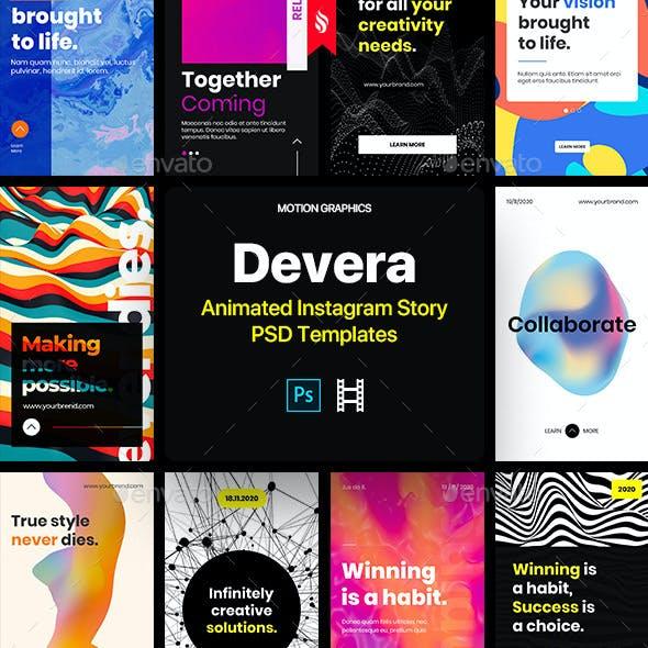 Devera - Animated Instagram Stories PSD Templates