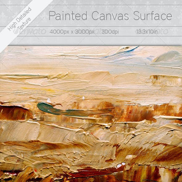 Painted Canvas Surface