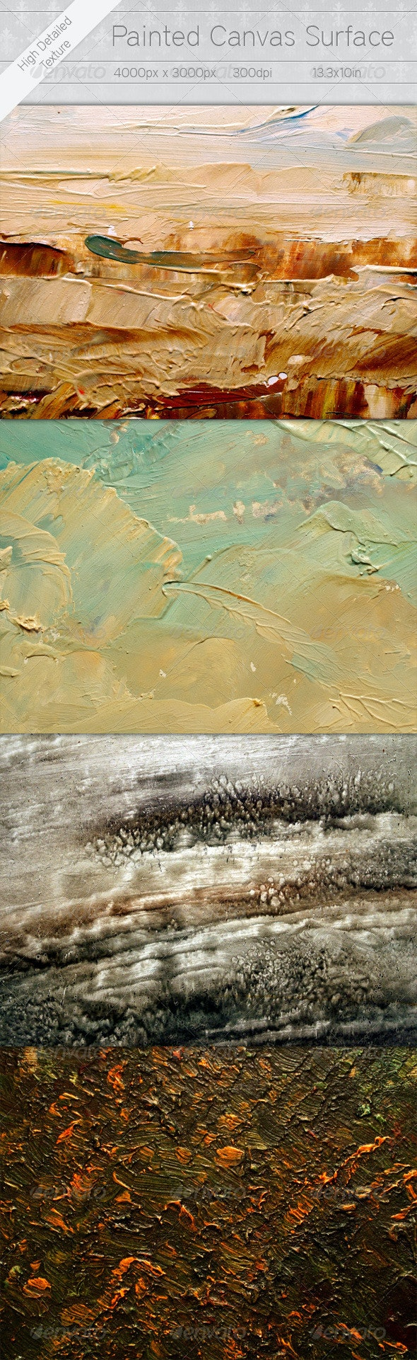 Painted Canvas Surface - Art Textures
