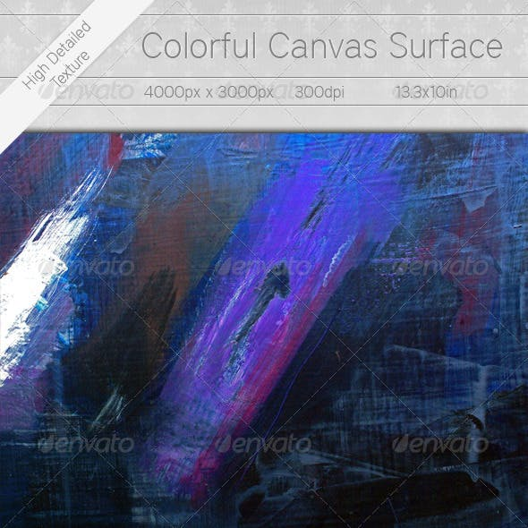 Blue Canvas Surface