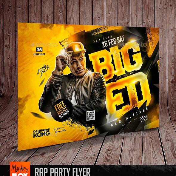 Rap Party Flyer