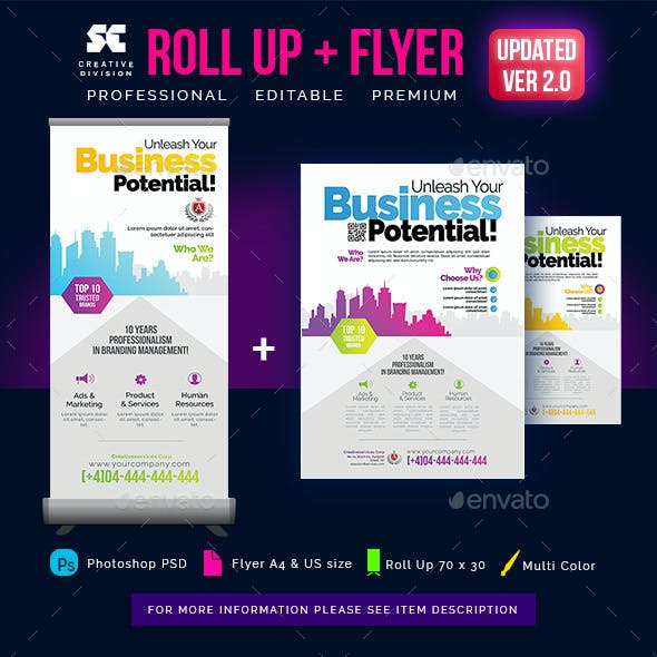 Corporate Roll Up Banner + Flyer