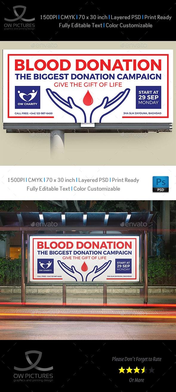 Blood Donation Billboard Template - Signage Print Templates