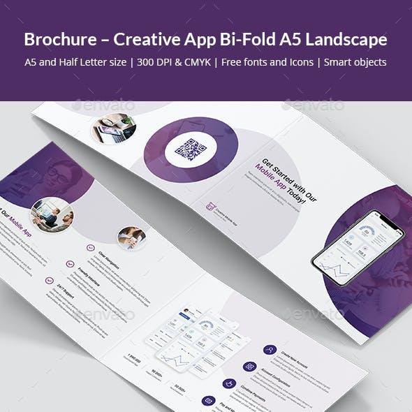 Brochure – Creative App Bi-Fold A5 Landscape